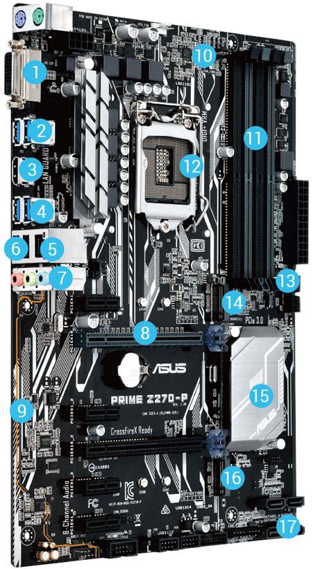 Asus Prime Z270 P Lga 1151 Z270 Ddr4 Support Kabylake prime z270 p motherboards asus usa