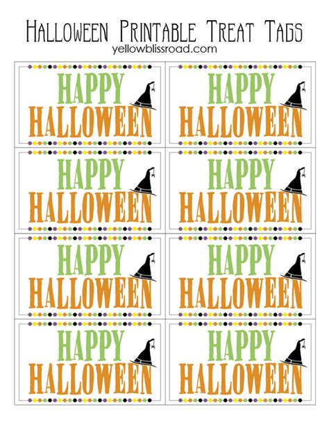 printable halloween tags halloween treat tags free printable yellow bliss road