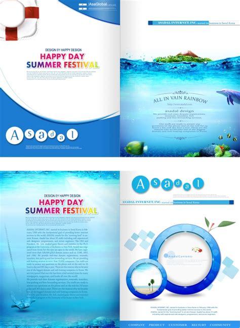 brochure templates psd tourism brochure design psd material millions