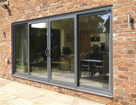 Grey Aluminium Patio Doors by Aluminium Windows Versus Wood Pvc Cherwell Windows