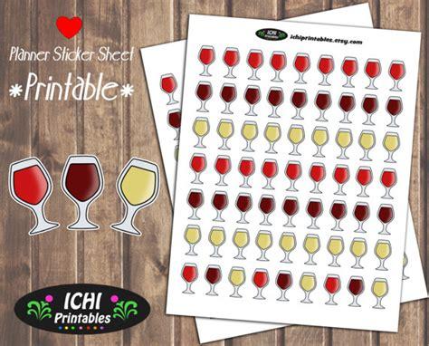 printable wine stickers wine printable planner stickers wine planner stickers