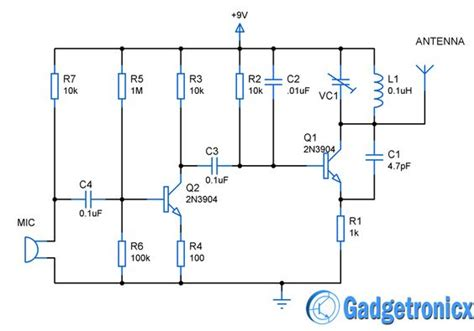 fm transmitter using transistor mini fm transmitter circuit diagram schematic design using simple transistors guide for