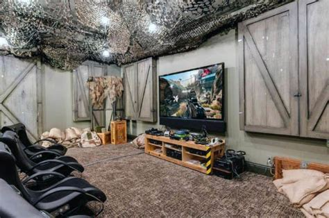 Low Budget Home Decor Ideas 50 Gaming Man Cave Design Ideas For Men Manly Home Retreats