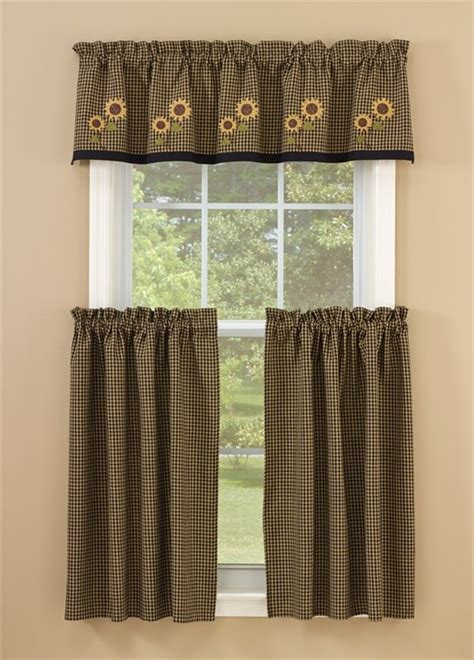 Park Designs Curtains Park Designs Sunflower Check Lined Valance
