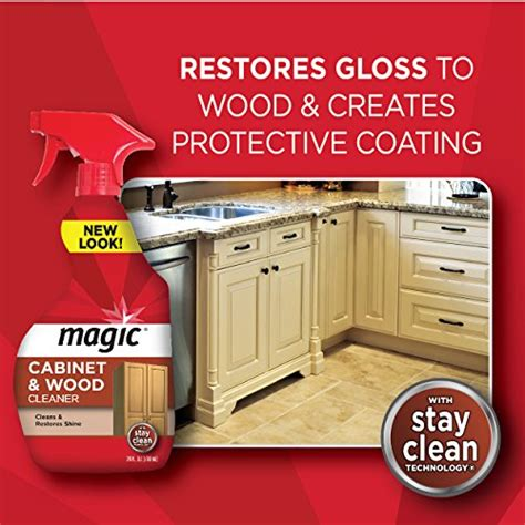 magic cabinet and wood cleaner magic cabinet wood clean shine 14 fl oz new ebay
