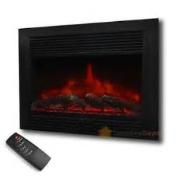 electric fireplace log insert with heater 28 5 quot embedded fireplace electric insert heater glass view