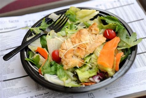 Grilled Chicken Salad Mcdonalds Vs Wendys by Fast Food Salads Often Unhealthy 183 Guardian Liberty Voice