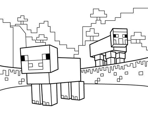 minecraft sheep coloring page sheep pdf printable coloring page minecraft minecraft