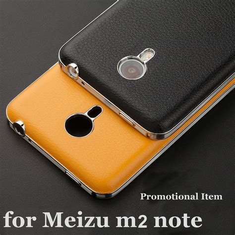 Best Produk Meizu M2 Note Back Leather Free Tempered Glass Pso1 new arrival 7 color top quality luxury leather back cover