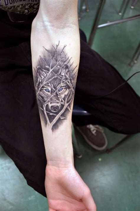 wolf tattoo forearm magical wolf shortlist