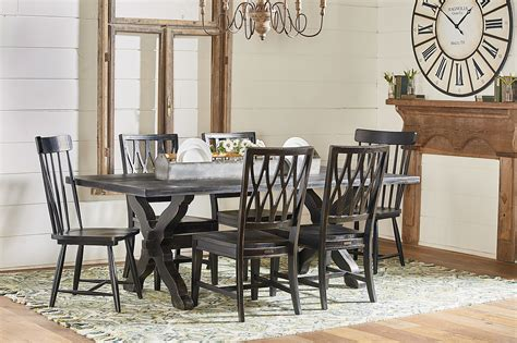Magnolia Home Primitive Sawbuck Dining Table Levin Furniture Home Dining Tables