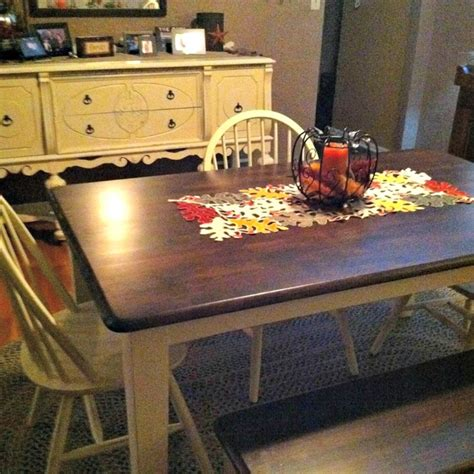 how to stain a dining room table how to stain and paint a table my breezy room