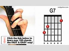 G7 - Easy Guitar Chords For Beginners - Open Chords ... G 7 Chord Guitar