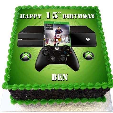xbox themed birthday cake xbox and fifa 16 birthday cake flecks cakes