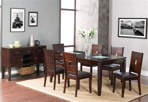 espresso dining room set lakeport espresso extendable dining room set from alpine