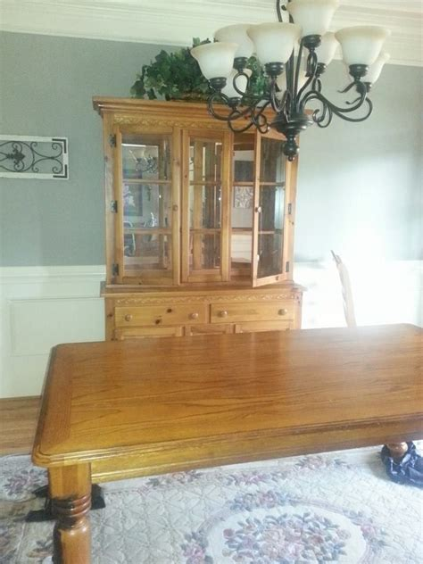 Dining Room Set Painted With Chalk Paint 1000 Ideas About Oak Dining Room Set On Chalk