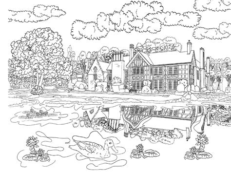 coloring pages for adults scenery beautiful scenery colouring pages in the playroom