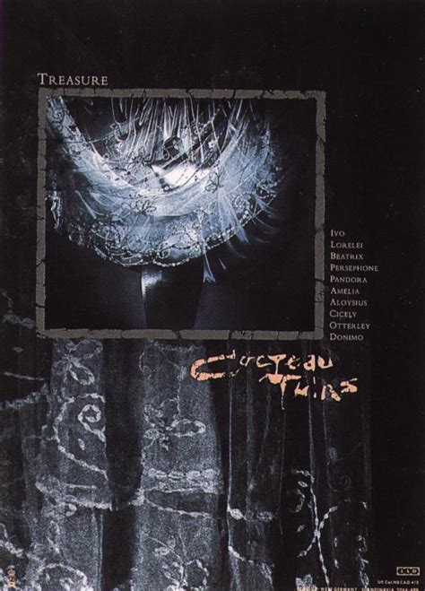 Cocteau Twins Poster | poster for cocteau twins album treasure 4ad posters