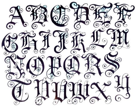 tattoo designs of alphabets images for gt letters design typography type