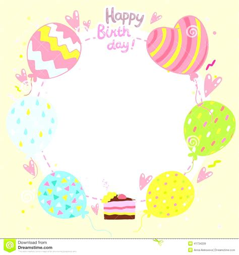 Free Birthday Card Design Template by Birthday Card Template Cyberuse