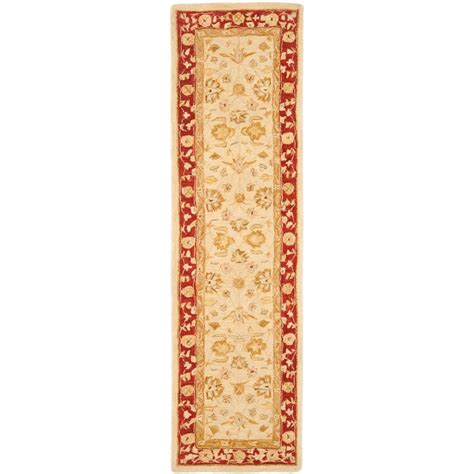 rug runners 2 x 14 safavieh anatolia ivory 2 ft 3 in x 14 ft runner an522c 214 the home depot