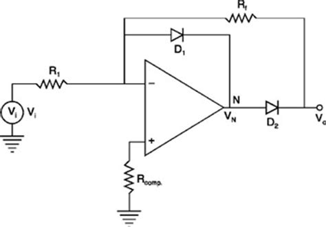 diode bridge op circuit precision diode op half wave rectifier ece tutorials