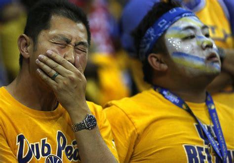golden state warriors fans golden state warriors fans suffer along with their team