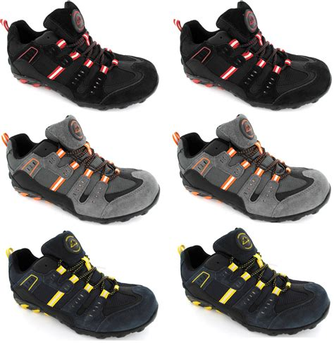 steel toe sport shoes mens steel toe cap trainers new lightweight safety sport