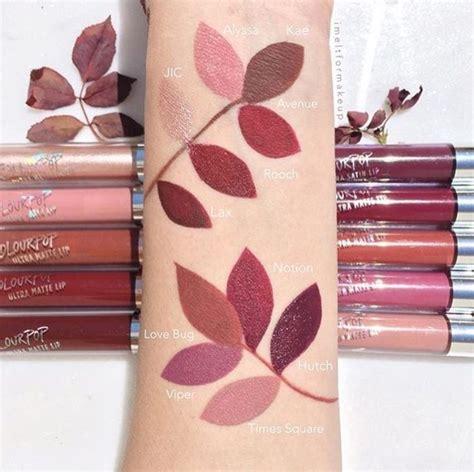 Lipstik Ozera Ultra Matte 25 best colourpop lippie swatch trending ideas on colour pop lipstik matte and pop