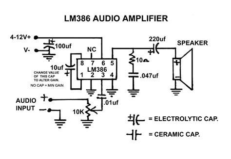 lm386 integrated circuit lifier chip schematics how to correctly connect audio to lm386 electrical engineering stack exchange