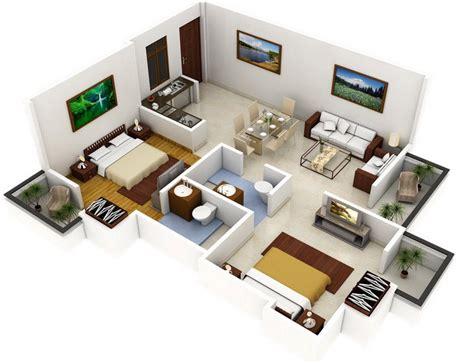Basement Blueprints by Plano De Apartamento De 2 Dormitorios Y 2 Ba 241 Os