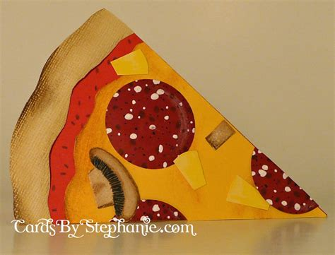 How To Make Paper Pizza - pineapple and pepperoni pizza card cards by