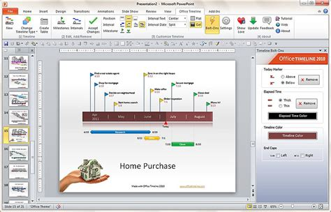 Office Timeline 2010 Lets You Create Timelines Using How To Make A Timeline In Powerpoint 2010