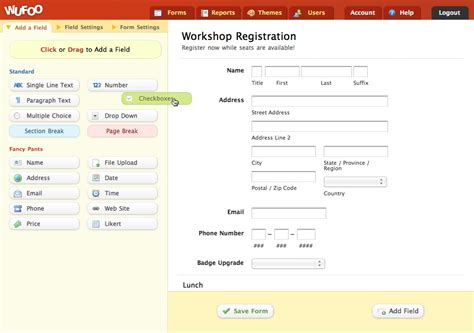 Wufoo Templates form creation and reporting features wufoo