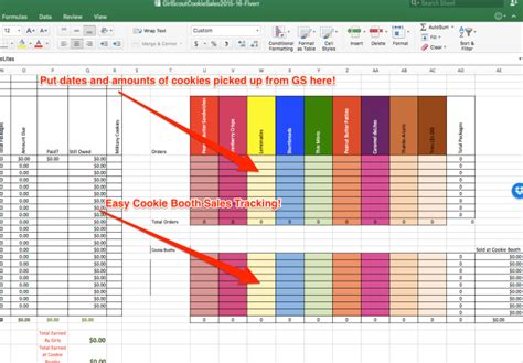 Scout Cookie Tracking Spreadsheet by Create A Spreadsheet To Calculate Scout Cookie