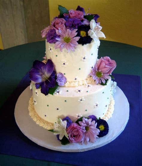 Wedding Cake Purple by Jillicious Discoveries Three Purple Wedding Cakes
