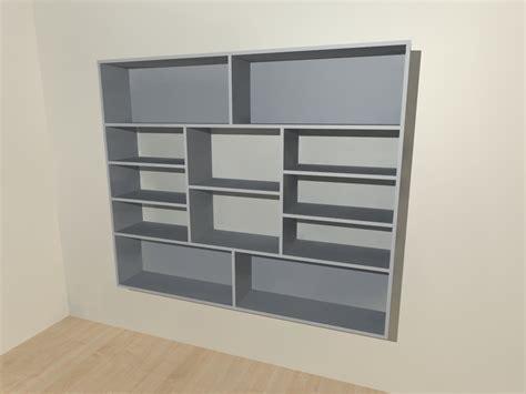 boekenkast wit grijs zwevende boekenkast grijs