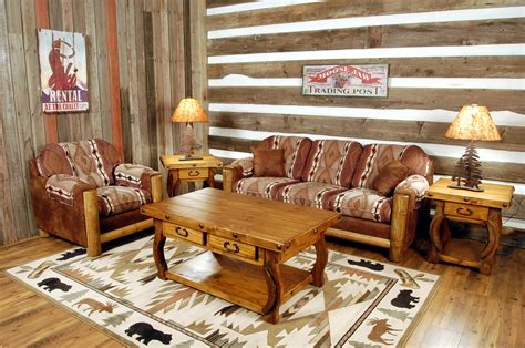 rustic livingroom furniture southwest furniture living room back at the ranch