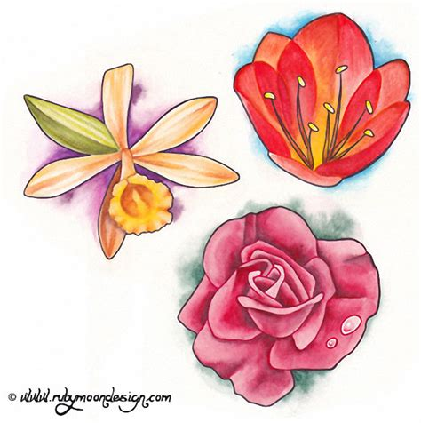 flower tattoo flash flower gallery 70 flower designs