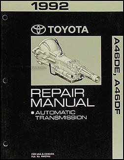 auto repair manual online 1992 toyota previa free book repair manuals 1992 toyota previa automatic transmission repair shop manual original