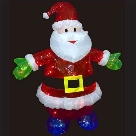 china 3 ft santa w led lights china christmas decoration