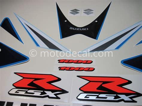 Suzuki Gsxr 1000 Decals Suzuki Gsx R 1000 2006 Blue White Decal Kit By Motodecal