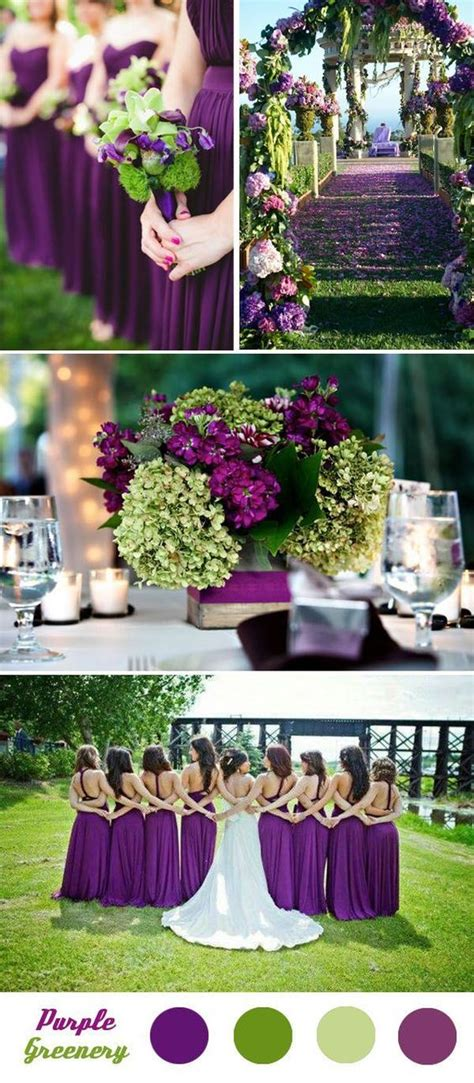 five fantastic and summer wedding color palette