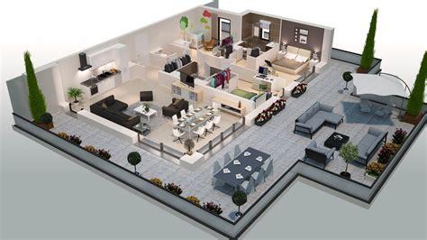 plan chambre 3d plan appartement 3d plans 3d d 39 appartements studio