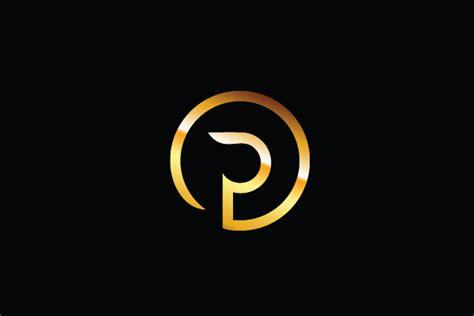 Golden Logo P Logo P Design Logo
