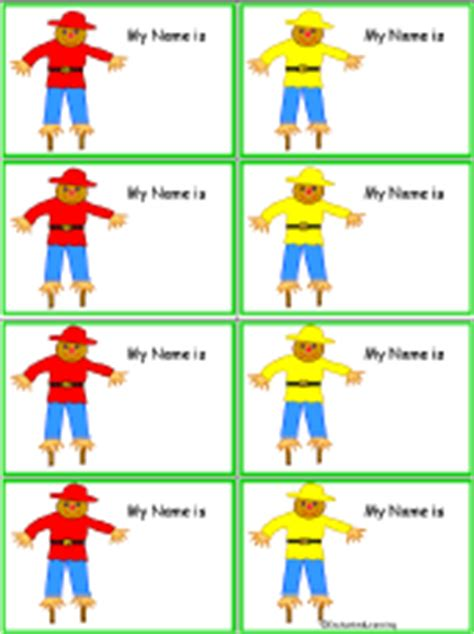 penguin nametags to print in color enchantedlearning com scarecrow nametags to print in color enchantedlearning com