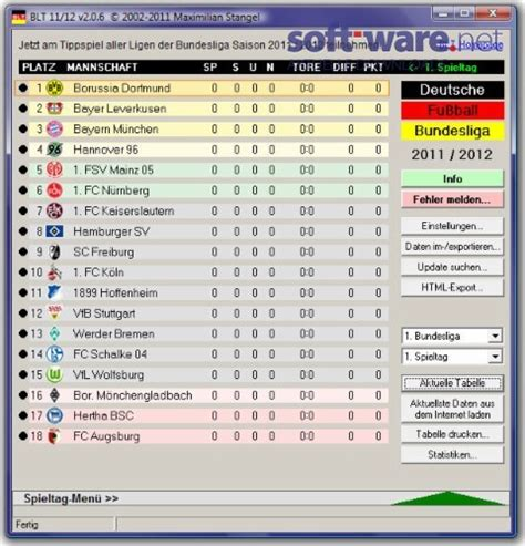 bundesliga 2 tabelle bundesliga tabelle 2011 2012 2 0 6 windows