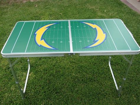 chargers pong table gopong football tailgating tables tailgating ideas