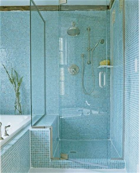 Blue Glass Tile Bathroom by Bathroom Makeover Tour Spa Like Bathroom With Seaside Style Blue Tiles Mosaics And Blue Mosaic