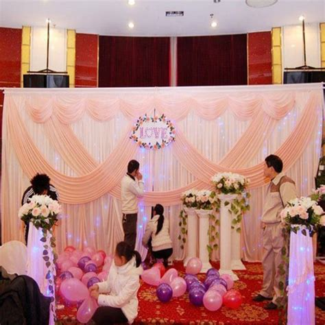 Wedding Banquet Backdrop by Pink Wedding Backdrop Stage Wedding Decoration